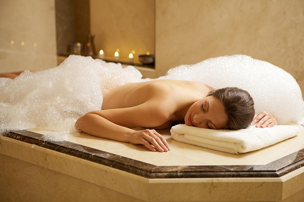 Sexy girl waiting for foam massage Mugla Turkey