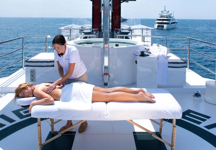 private spa massage service on yachts and boats in Gocek bay Fethiye Turkey